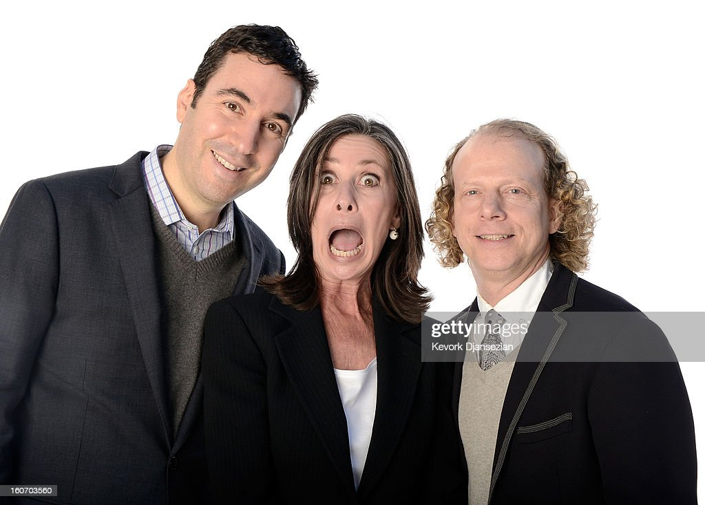 Producers Jonathan Gordon, Donna Gigliotti, and <a gi-track='captionPersonalityLinkClicked' href=/galleries/search?phrase=Bruce+Cohen&family=editorial&specificpeople=820103 ng-click='$event.stopPropagation()'>Bruce Cohen</a> pose for a portrait during the 85th Academy Awards Nominations Luncheon at The Beverly Hilton Hotel on February 4, 2013 in Beverly Hills, California.