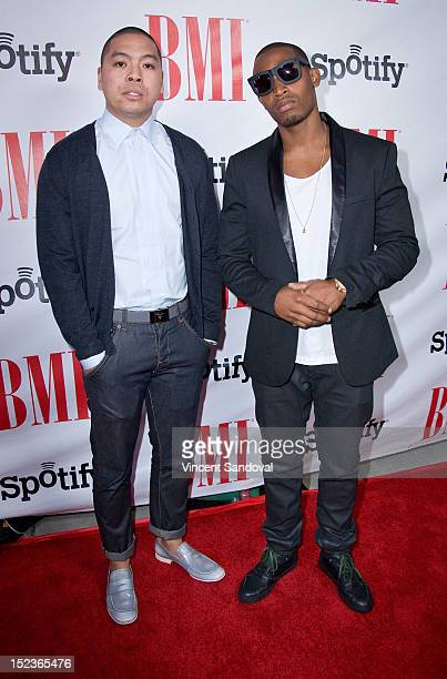 Producers Jonathan Yip and Ray Romulus of Stereotypes attend the 12th Annual BMI Urban Awards at Saban Theatre on September 07 2012 in Beverly Hills...
