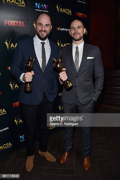 Producers Jordan Horowitz and Fred Berger attend the 6th Annual AACTA International Awards at Avalon Hollywood on January 6 2017 in Los Angeles...