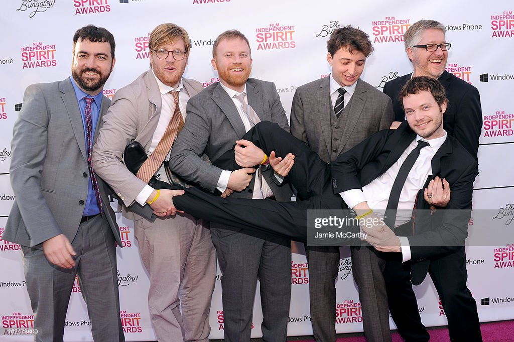 Producers Josh Penn, Dan Janvey and Michael Gottwald, director Benh Zeitlin, cinematographer Ben Richardson and producer Paul Mezey attends the 2013 Film Independent Spirit Awards After Party hosted by Microsoft Windows Phone at The Bungalow at The Fairmont Hotel on February 23, 2013 in Santa Monica, California.