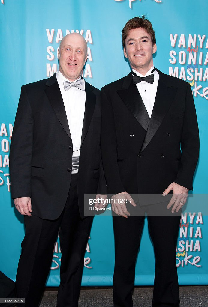 Producers Joshua Goodman (L) and David Brinkman attend the 'Vanya And Sonia And Masha And Spike' Broadway Opening Night at The Golden Theatre on March 14, 2013 in New York City.