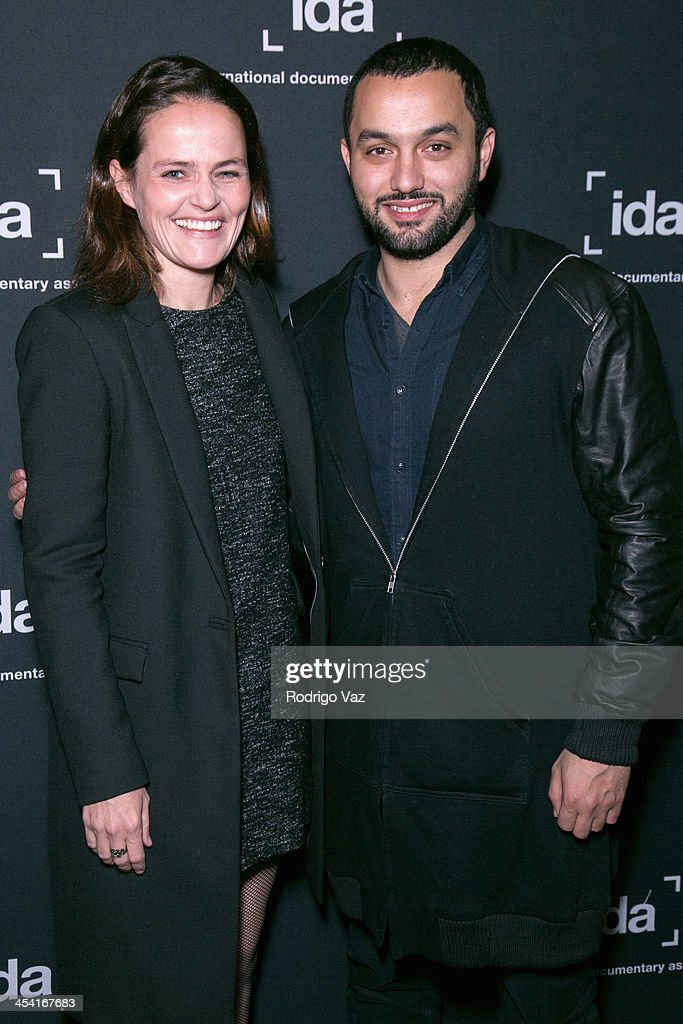 Producers Karim Amer and Alexandra Johnes attend the International Documentary Association's 2013 IDA Documentary Awards at Directors Guild of America on December 6, 2013 in Los Angeles, California.