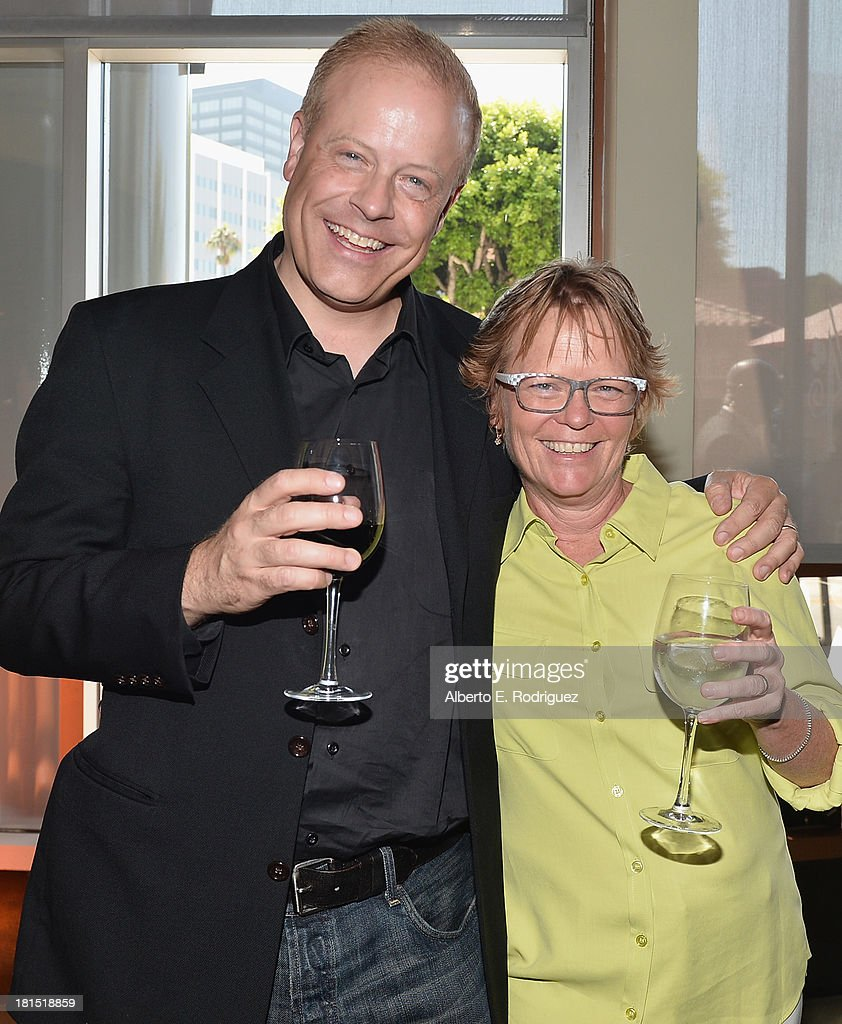 Producers Kirk Bodyfelt and Pam Marsden attend the after party for the premiere of Columbia Pictures and Sony Pictures Animation's 'Cloudy With A Chance Of Meatballs 2' at The Napa Valley Grille on September 21, 2013 in Westwood, California.