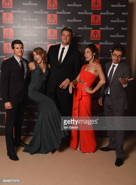 Producers Kyle Tekiela Frankie Lindquist Carl Effenson Mary Cybriwsky and Alan Trezza of 'Burying the Ex' pose for a portrait for JaegerLeCoultre in...