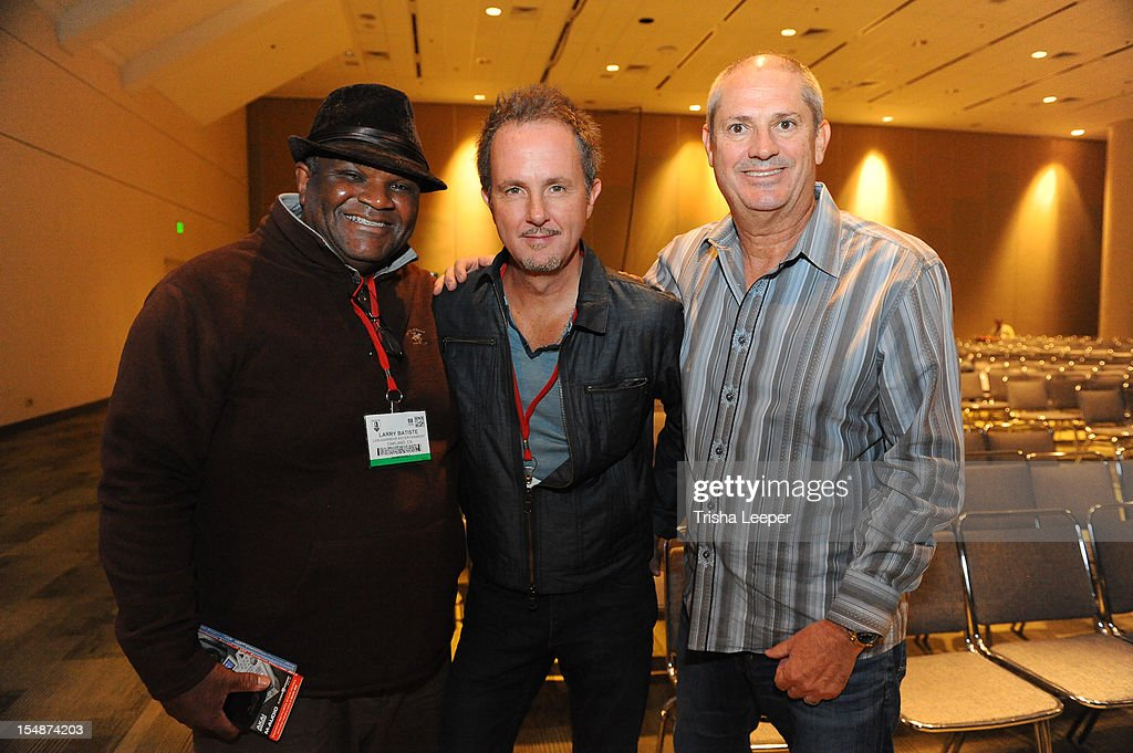 Producers Larry Bastile, CJ Vanston and Mike Clink attend the GRAMMY SoundTables: Sonic Imprints-Songs That Changed My Life at The Moscone Center on October 27, 2012 in San Francisco, California.
