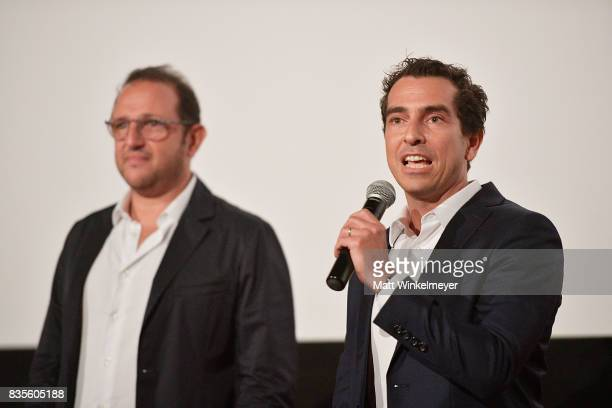 Producers Laurent Zeitoun and Yann Zenou attend the Weinstein Company's 'LEAP' at The Grove on August 19 2017 in Los Angeles California