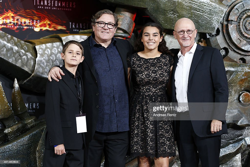 Producers Lorenzo di Bonaventura and Ian Bryce attend the european premiere of 'Transformers Age of Extinction' at Sony Centre on June 29 2014 in...
