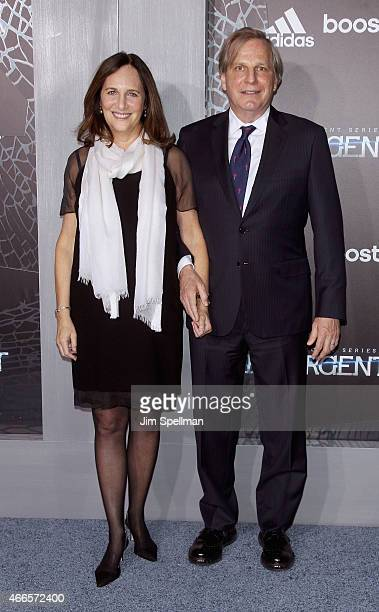 Producers Lucy Fisher and Douglas Wick attend the 'The Divergent Series Insurgent' New York premiere at Ziegfeld Theater on March 16 2015 in New York...