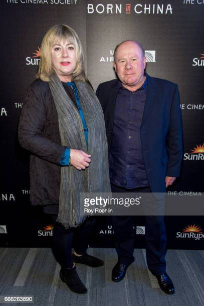 Producers Mandy Leith and Brian Leith attend Disneynature with the Cinema Society host the premiere of 'Born in China' at Landmark Sunshine Cinema on...