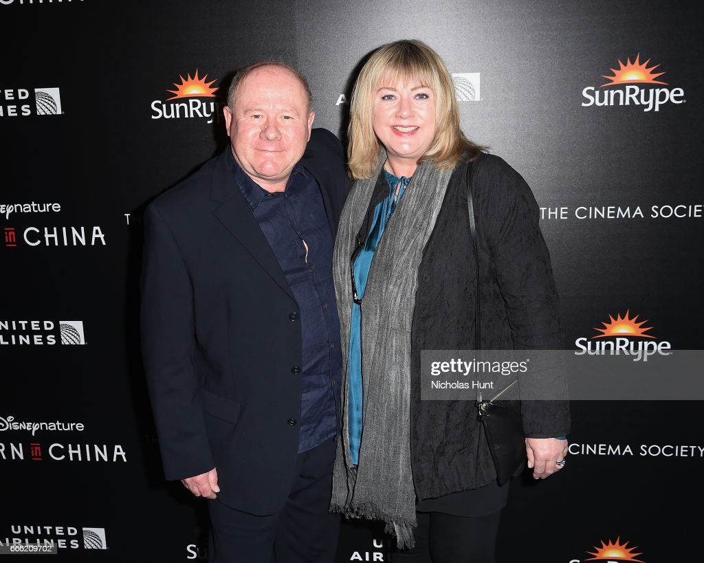 Producers Mandy Leith and Brian Leith attend the Disneynature With The Cinema Society Host The Premiere Of 'Born In China' at Landmark Sunshine Cinema on April 8, 2017 in New York City.