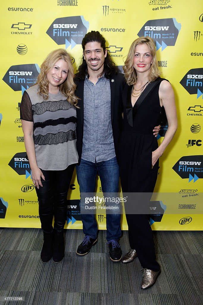 Producers Mandy Tagger, Omri Bezalel and Adi Ezroni attend the 'Kelly & Cal' Photo Op and Q&A during the 2014 SXSW Music, Film + Interactive Festival at Rollins Theatre at The Long Center on March 7, 2014 in Austin, Texas.