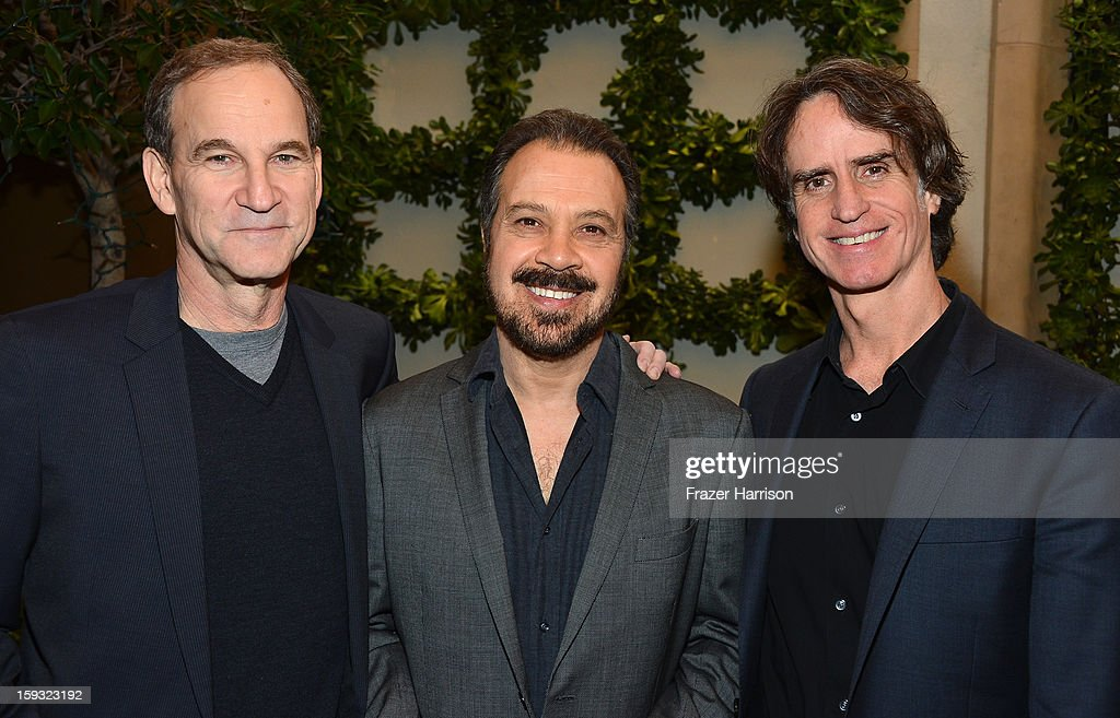 Producers Marshall Herskovitz and Edward Zwick, and director Jay Roach attend the 13th Annual AFI Awards at Four Seasons Los Angeles at Beverly Hills on January 11, 2013 in Beverly Hills, California.