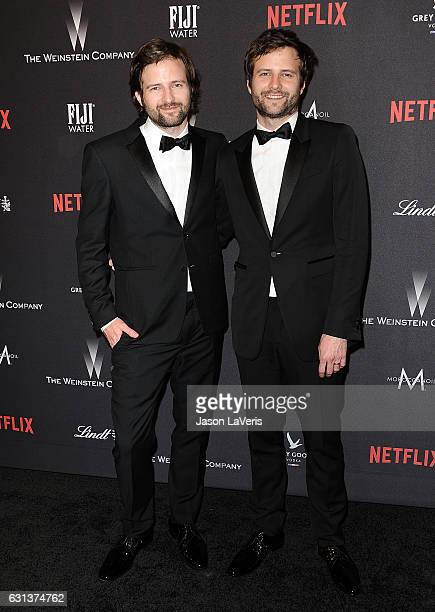Producers Matt Duffer and Ross Duffer attend the 2017 Weinstein Company and Netflix Golden Globes after party on January 8 2017 in Los Angeles...