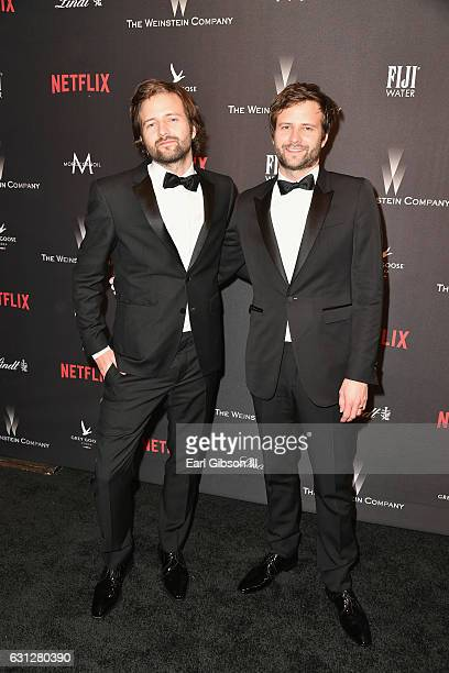 Producers Matt Duffer and Ross Duffer attend The Weinstein Company and Netflix Golden Globe Party presented with FIJI Water Grey Goose Vodka Lindt...