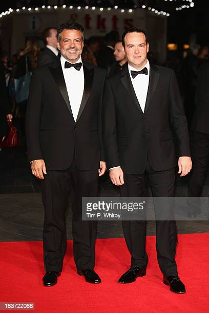Producers Michael de Luca and Dana Brunetti attend the European premiere of 'Captain Phillips' on the opening night of the 57th BFI London Film...
