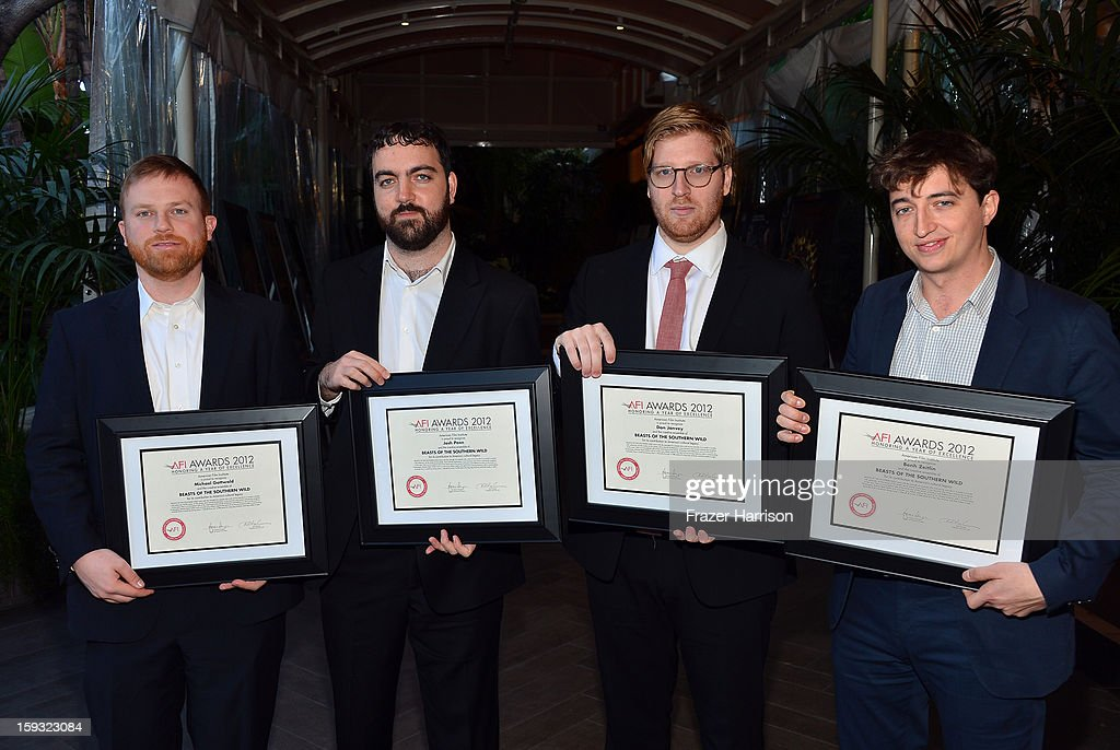 Producers Michael Gottwald, Dan Janvey, Josh Penn, and director Benh Zeitlin attend the 13th Annual AFI Awards at Four Seasons Los Angeles at Beverly Hills on January 11, 2013 in Beverly Hills, California.
