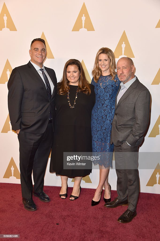 Producers Michael Sugar, Nicole Rocklin, Blye Pagon Faust and Steve Golin attend the 88th Annual Academy Awards nominee luncheon on February 8, 2016 in Beverly Hills, California.