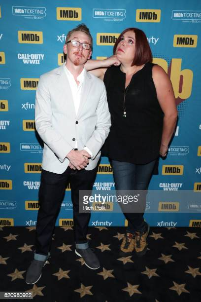 Producers Mike Owens and Shadi Petoksy on the #IMDboat at San Diego ComicCon 2017 at The IMDb Yacht on July 22 2017 in San Diego California