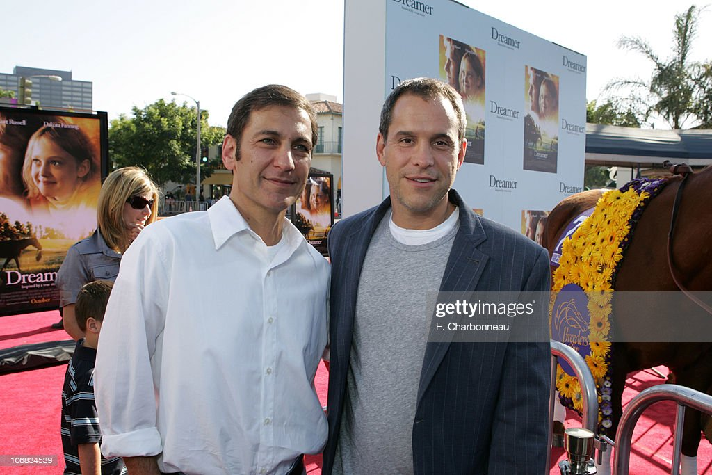 Producers Mike Tollins and Brian Robbins during DreamWorks Pictures' 'Dreamer Inspired by a True Story' Los Angeles Premiere Red Carpet at Mann...