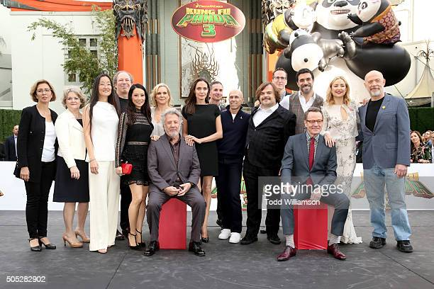 Producers Mireille Soria and Bonnie Arnold director Jennifer Yuh composer Hans Zimmer actress Lucy Liu producer Melissa Cobb actors Dustin Hoffman...