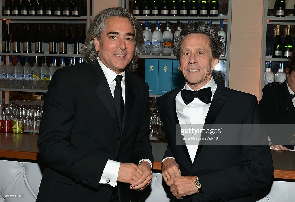 Producers <a gi-track='captionPersonalityLinkClicked' href=/galleries/search?phrase=Mitch+Glazer&family=editorial&specificpeople=666735 ng-click='$event.stopPropagation()'>Mitch Glazer</a> (L) and <a gi-track='captionPersonalityLinkClicked' href=/galleries/search?phrase=Brian+Grazer&family=editorial&specificpeople=203009 ng-click='$event.stopPropagation()'>Brian Grazer</a> attend the 2013 Vanity Fair Oscar Party hosted by Graydon Carter at Sunset Tower on February 24, 2013 in West Hollywood, California.