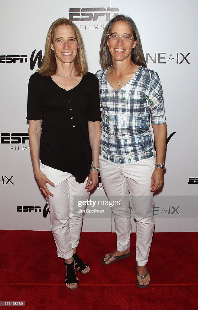 Producers Nancy Stern Winters and Lisa Lax attend 'Venus Vs' and 'Coach' New York Special Screening at Paley Center For Media on June 24 2013 in New...