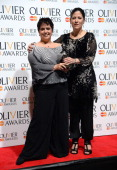 Producers Nica Burns and Kim Poster with their Best Revival award during The Laurence Olivier Awards at the Royal Opera House on April 28 2013 in...