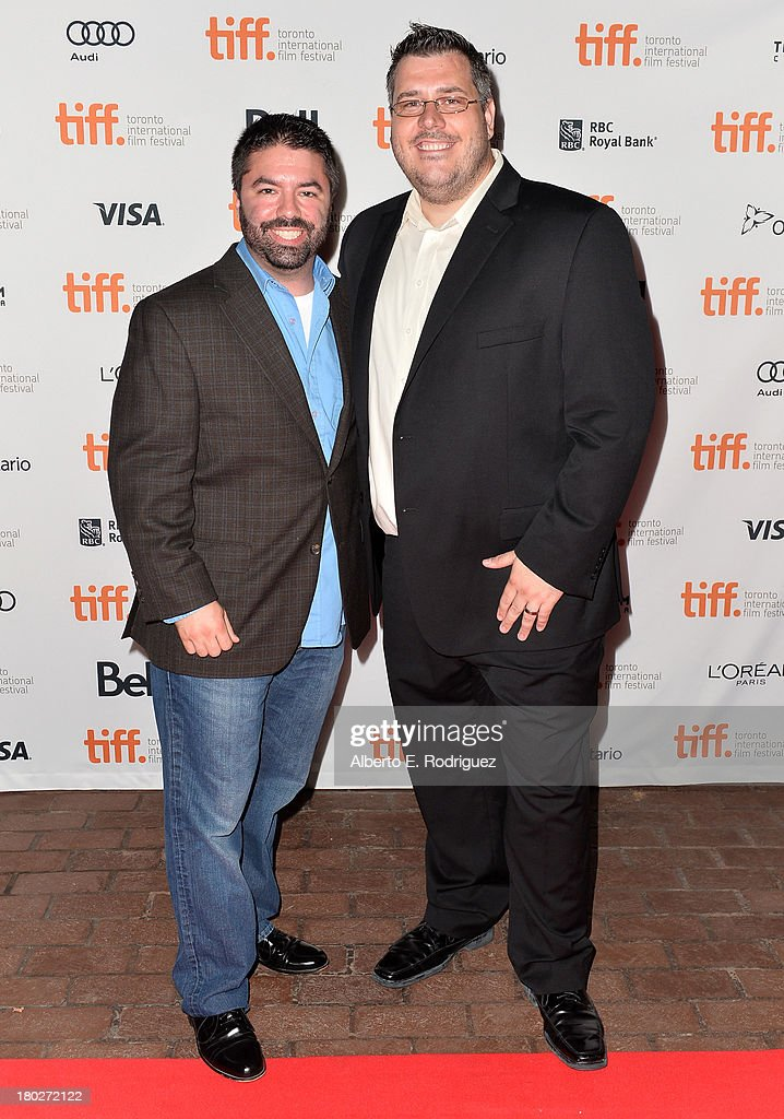 Producers Nicholas Delmenico and Anthony Ambrosino arrive at the 'Almost Human' Premiere during the 2013 Toronto International Film Festival at Ryerson Theatre on September 10, 2013 in Toronto, Canada.