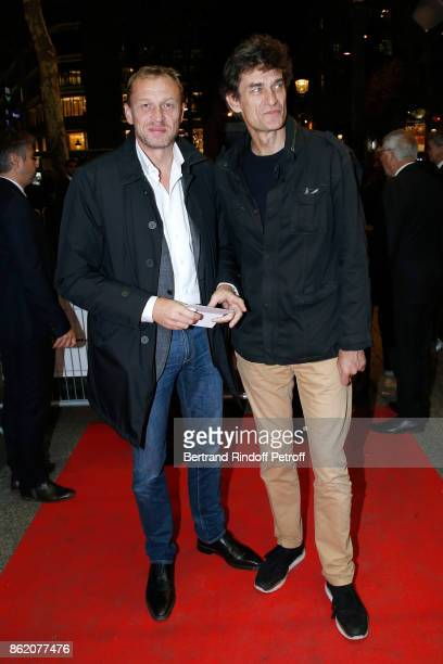 Producers Nicolas Altmayer and his brother Eric Altmayer attend the 'Knock' Paris Premiere at Cinema UGC Normandie on October 16 2017 in Paris France