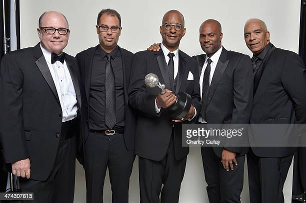 Producers of Real Husbands of Hollywood Tim Gibbons Jesse Collins Ralph Farquhar Chris Spencer and Stan Lathan pose for a portrait during the 45th...