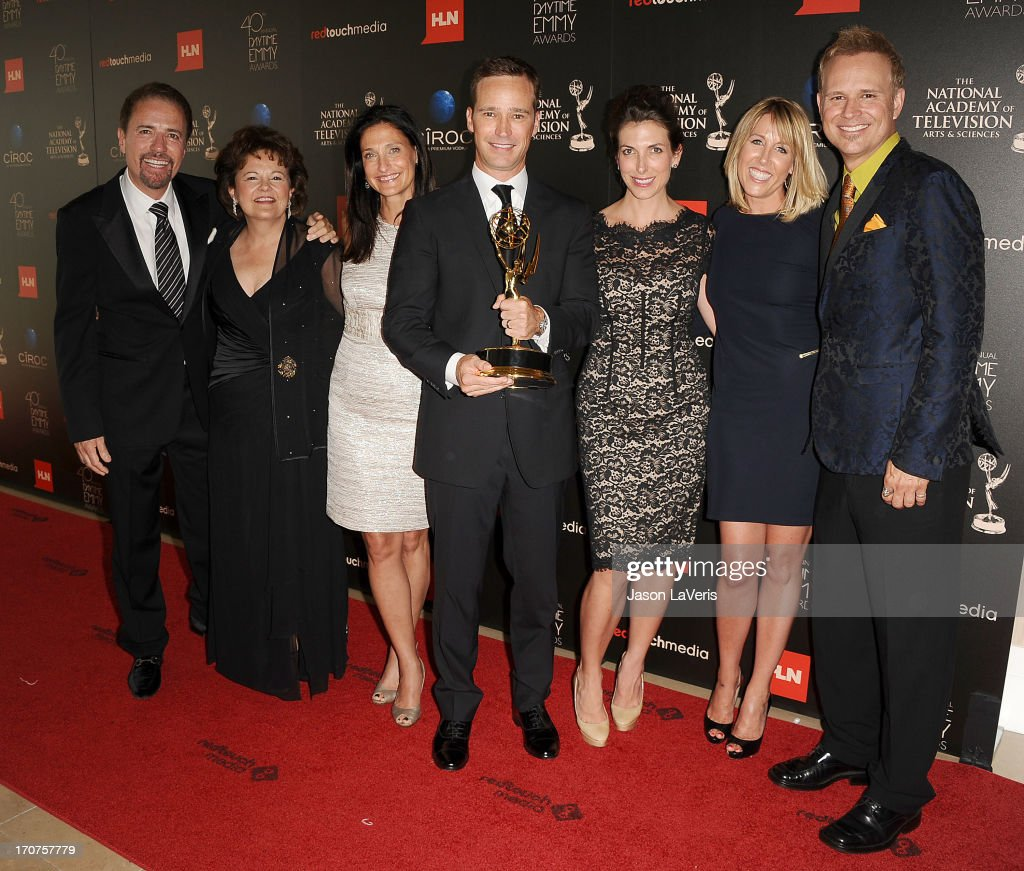 Producers of 'The Price Is Right' pose in the press room at the 40th annual Daytime Emmy Awards at The Beverly Hilton Hotel on June 16, 2013 in Beverly Hills, California.