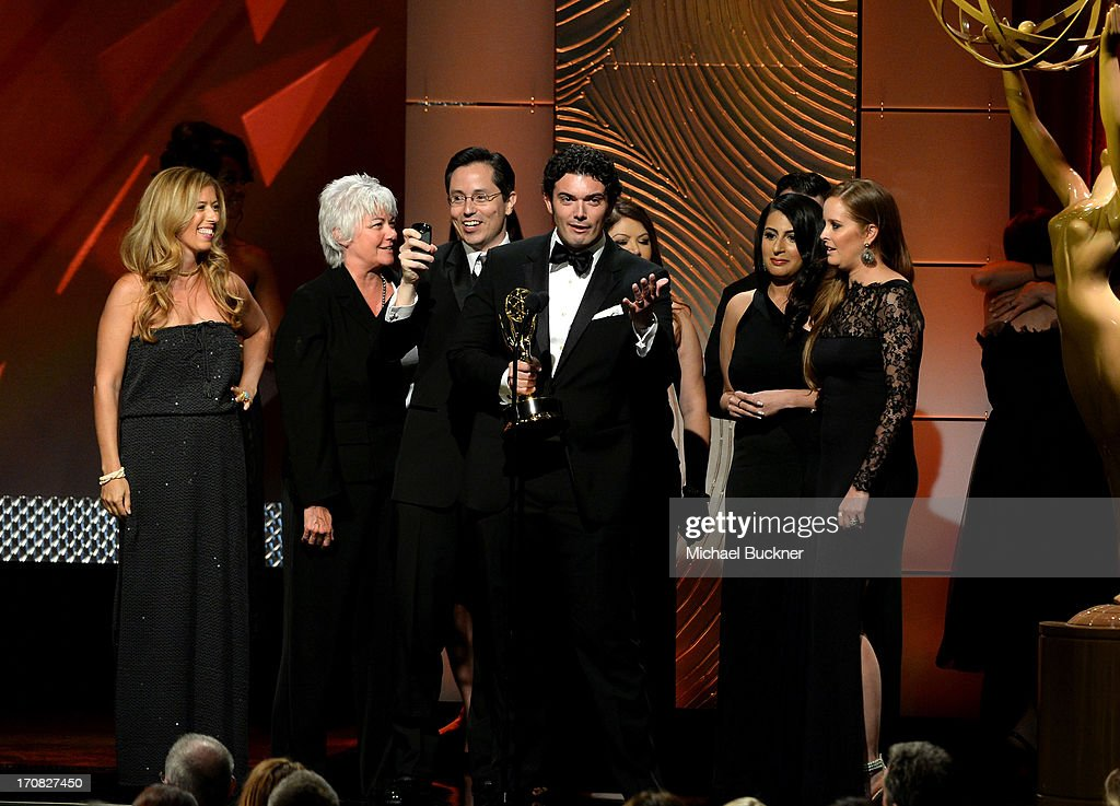 Producers of 'Trishas Southern Kitchen' onstage during the 40th Annual Daytime Emmy Awards at the Beverly Hilton Hotel on June 16, 2013 in Beverly Hills, California. 23774_001_1867.JPG