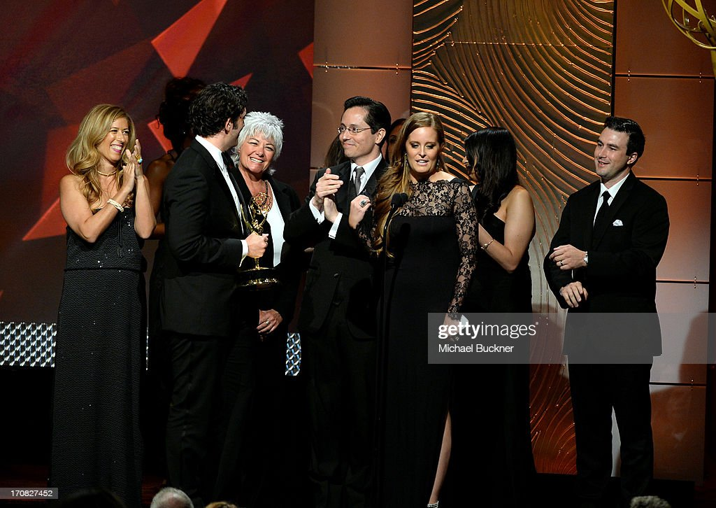 Producers of 'Trishas Southern Kitchen' onstage during the 40th Annual Daytime Emmy Awards at the Beverly Hilton Hotel on June 16, 2013 in Beverly Hills, California. 23774_001_1872.JPG