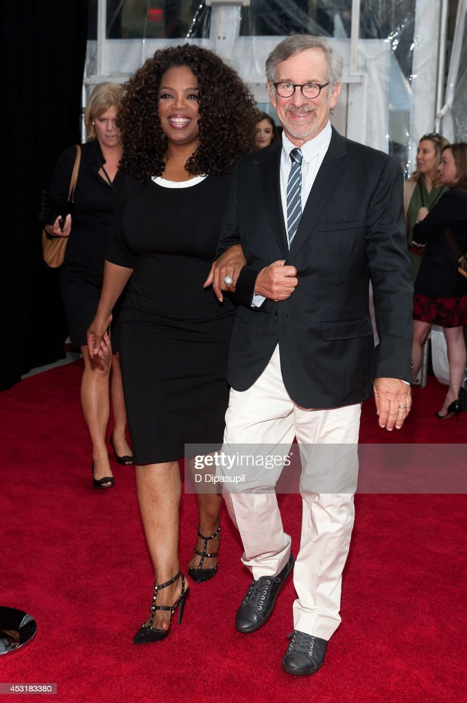 Producers <a gi-track='captionPersonalityLinkClicked' href=/galleries/search?phrase=Oprah+Winfrey&family=editorial&specificpeople=171750 ng-click='$event.stopPropagation()'>Oprah Winfrey</a> (L) and <a gi-track='captionPersonalityLinkClicked' href=/galleries/search?phrase=Steven+Spielberg&family=editorial&specificpeople=202022 ng-click='$event.stopPropagation()'>Steven Spielberg</a> attend 'The Hundred-Foot Journey' New York premiere at the Ziegfeld Theater on August 4, 2014 in New York City.