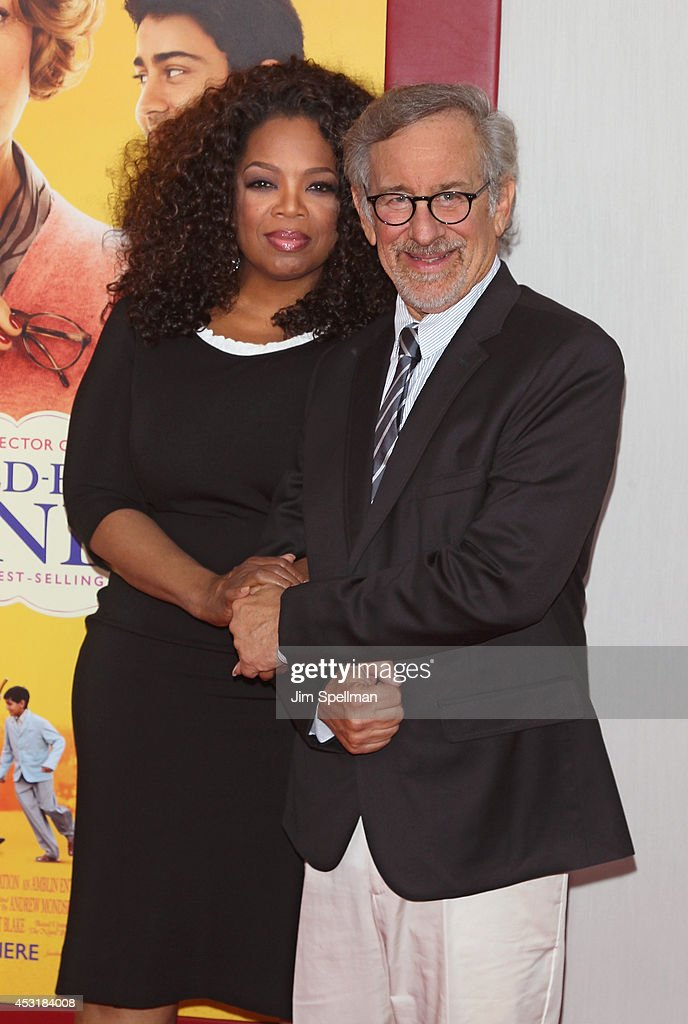 Producers <a gi-track='captionPersonalityLinkClicked' href=/galleries/search?phrase=Oprah+Winfrey&family=editorial&specificpeople=171750 ng-click='$event.stopPropagation()'>Oprah Winfrey</a> and <a gi-track='captionPersonalityLinkClicked' href=/galleries/search?phrase=Steven+Spielberg&family=editorial&specificpeople=202022 ng-click='$event.stopPropagation()'>Steven Spielberg</a> attends the 'The Hundred-Foot Journey' New York Premiere at Ziegfeld Theater on August 4, 2014 in New York City.