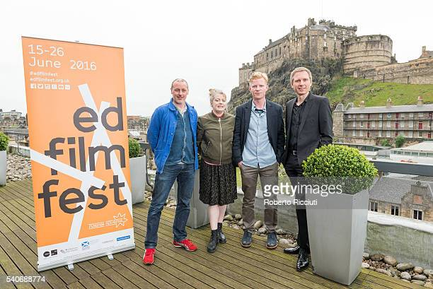 Producers Paul Welsh Nicky Gogan director Niall McCann and musician Alex Kapranos attend a photocall for 'Lost in France' World Premiere during the...