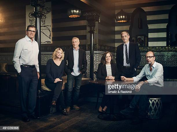 Producers Peter Chernin Cathleen Sutherland Marc Platt Emma Thomas John Lesher and Eric Fellner are photographed for Vibe Magazine on October 23 2014...