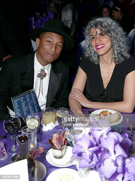 Producers Pharrell Williams and Mimi Valdes attend the 28th Annual Palm Springs International Film Festival Film Awards Gala at the Palm Springs...