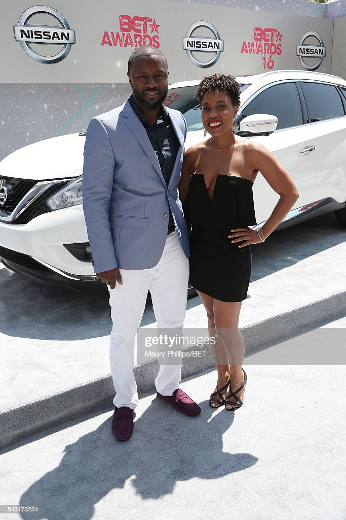 Producers Rob Hardy (L) and Mitzi Miller attend the Nissan red carpet during the 2016 BET Awards at the Microsoft Theater on June 26, 2016 in Los Angeles, California.