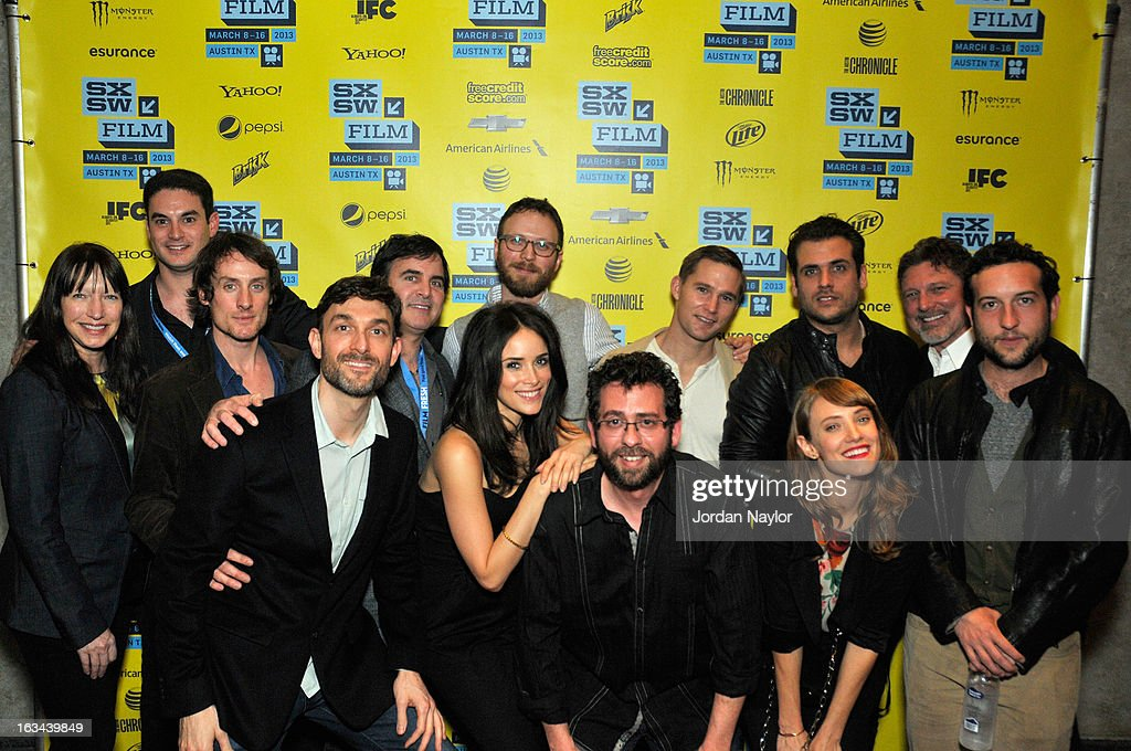 Producers Ruth Mutch, Jason Michael Berman, Kwesi Collisson, Mike Feuer, Tom Fore, actress Abigail Spencer, writer/director Walter Strafford, producer Todd Feuer, actor Brian Geraghty, producer Tim Chonacas, actress Alexia Rasmusson, producer Kevin Stanford and actor Chris Marquette arrive at the screening of 'Kilimanjaro' during the 2013 SXSW Music, Film + Interactive Festival at Stateside Theater on March 9, 2013 in Austin, Texas.