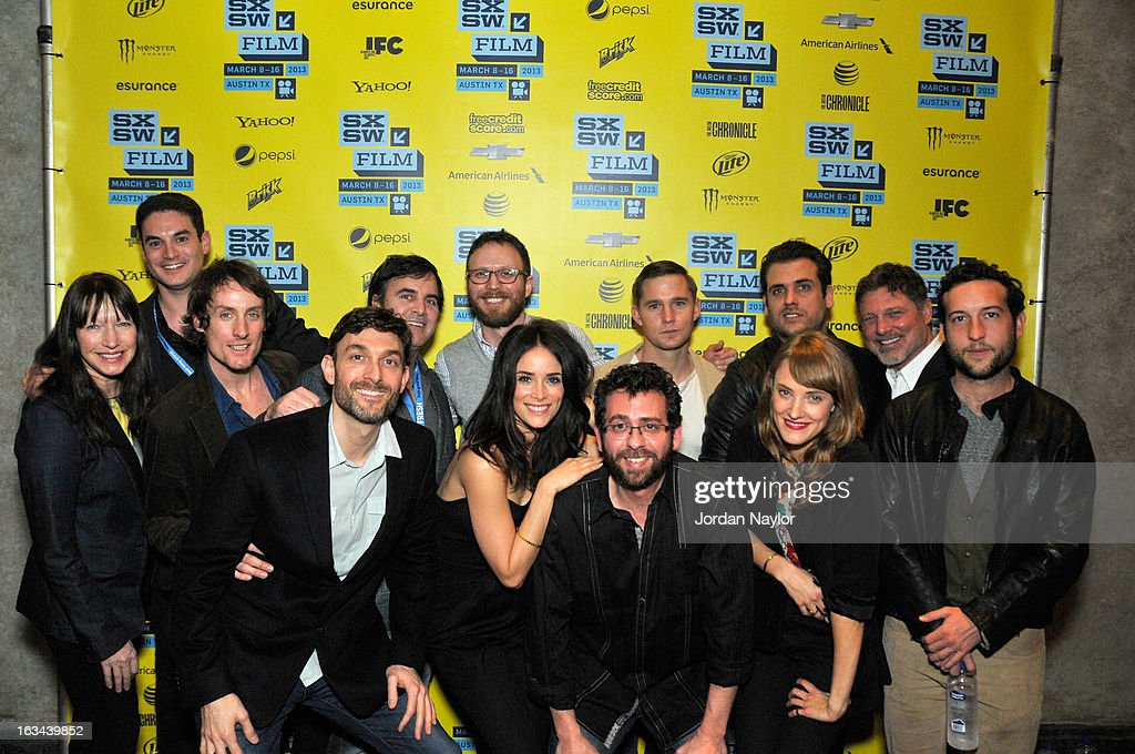 Producers Ruth Mutch, Jason Michael Berman, Kwesi Collisson, Mike Feuer, Tom Fore, actress <a gi-track='captionPersonalityLinkClicked' href=/galleries/search?phrase=Abigail+Spencer&family=editorial&specificpeople=748117 ng-click='$event.stopPropagation()'>Abigail Spencer</a>, writer/director Walter Strafford, producer Todd Feuer, actor <a gi-track='captionPersonalityLinkClicked' href=/galleries/search?phrase=Brian+Geraghty&family=editorial&specificpeople=2191642 ng-click='$event.stopPropagation()'>Brian Geraghty</a>, producer Tim Chonacas, actress Alexia Rasmusson, producer Kevin Stanford and actor <a gi-track='captionPersonalityLinkClicked' href=/galleries/search?phrase=Chris+Marquette&family=editorial&specificpeople=2969089 ng-click='$event.stopPropagation()'>Chris Marquette</a> arrive at the screening of 'Kilimanjaro' during the 2013 SXSW Music, Film + Interactive Festival at Stateside Theater on March 9, 2013 in Austin, Texas.