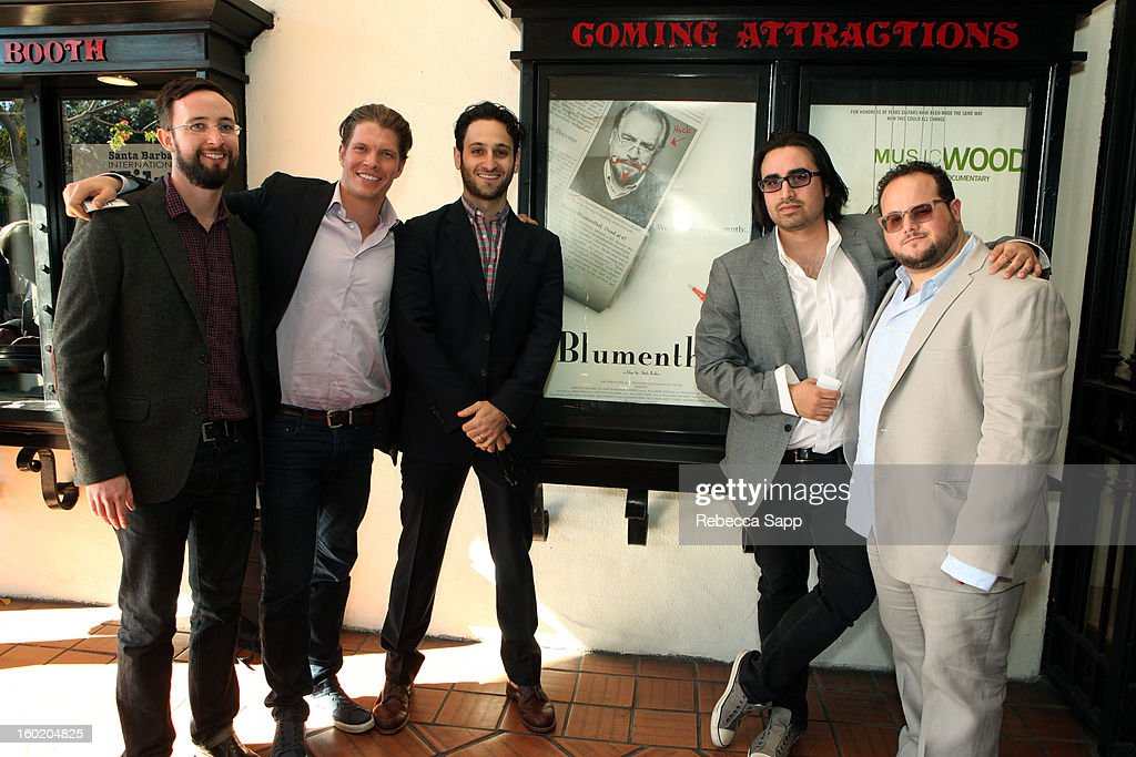 Producers Ryan Young, Alexander Cendese, Writer/Director Seth Fisher, producer Garrett P. Fennelly and producer Jesse Ozeri attend the screening of 'Blumenthal' on January 27, 2013 in Santa Barbara, California.