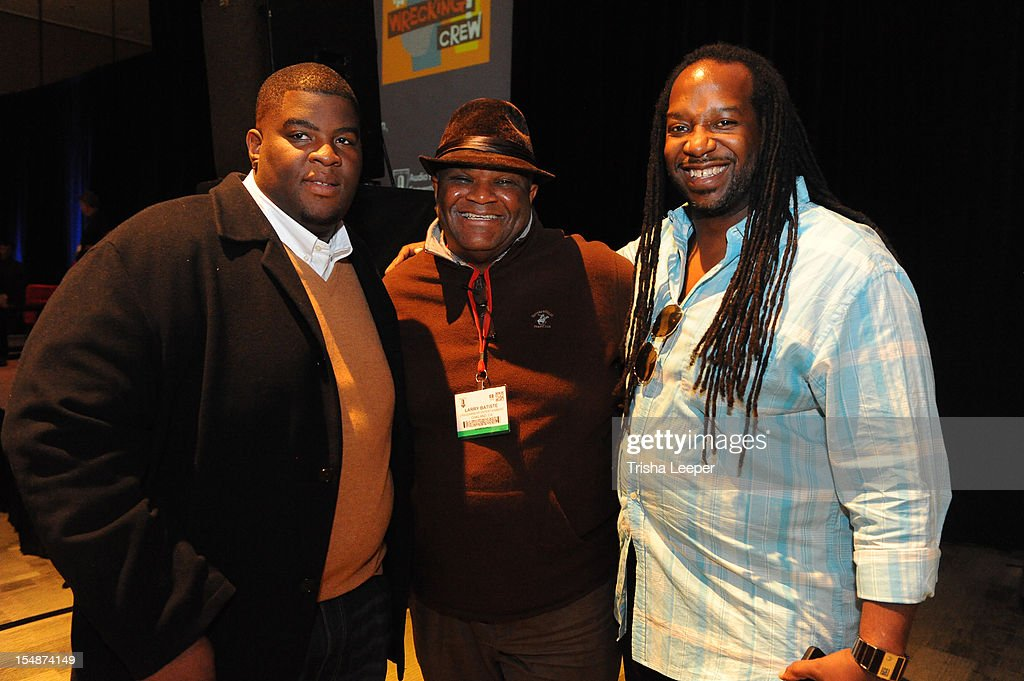 Producers Salaam Remi, Larry Batisle and Jimmy McKinney attend the GRAMMY SoundTables: Sonic Imprints-Songs That Changed My Life at The Moscone Center on October 27, 2012 in San Francisco, California.