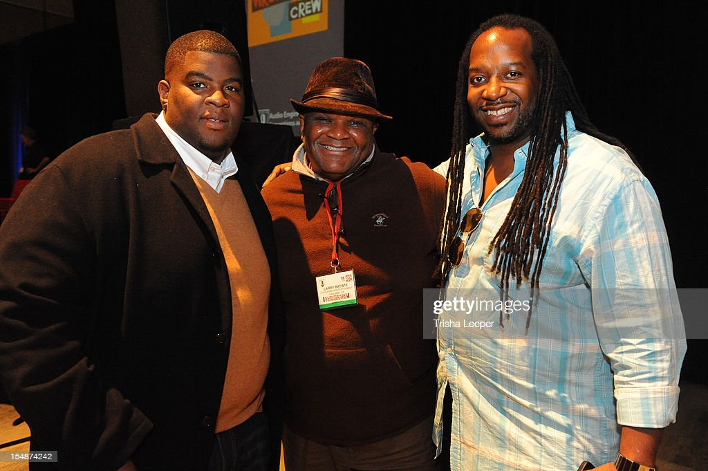 Producers <a gi-track='captionPersonalityLinkClicked' href=/galleries/search?phrase=Salaam+Remi&family=editorial&specificpeople=4083113 ng-click='$event.stopPropagation()'>Salaam Remi</a>, Larry Batisle and Jimmy McKinney attend the GRAMMY SoundTables: Sonic Imprints-Songs That Changed My Life at The Moscone Center on October 27, 2012 in San Francisco, California.
