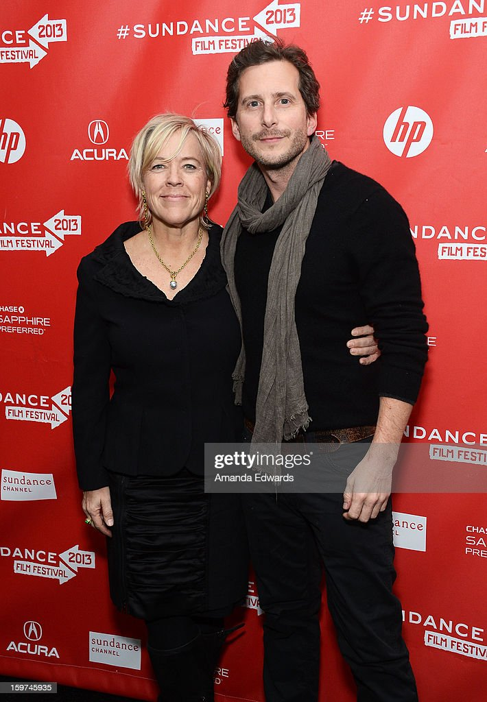 Producers Sarah Green (L) and Aaron Ryder arrive at the 2013 Sundance Film Festival Premiere of 'Mud' at The Marc Theatre on January 19, 2013 in Park City, Utah.