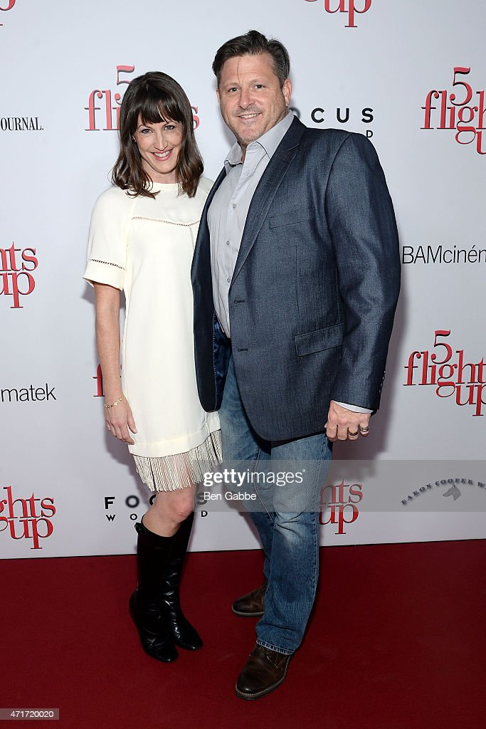Producers Shannon McManus (L) and Dean McCreary attend the '5 Flights Up' New York premiere at BAM Rose Cinemas on April 30, 2015 in New York City.