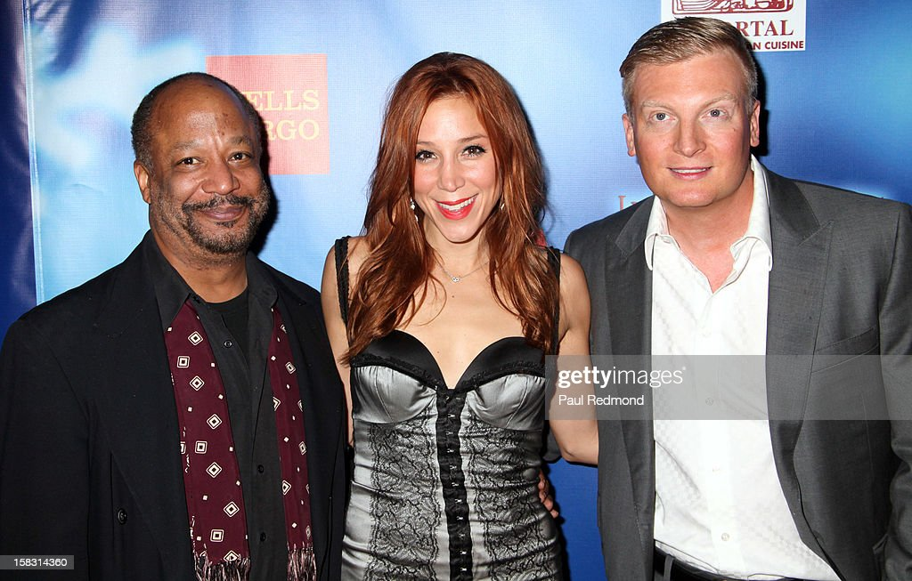 Producers Sheldon Epps, Becky Baeling and Kris Lythgoe arrive at the Pasadena Playhouse and Lythgoe Family Production's 'A Snow White Christmas' at Pasadena Playhouse on December 12, 2012 in Pasadena, California.