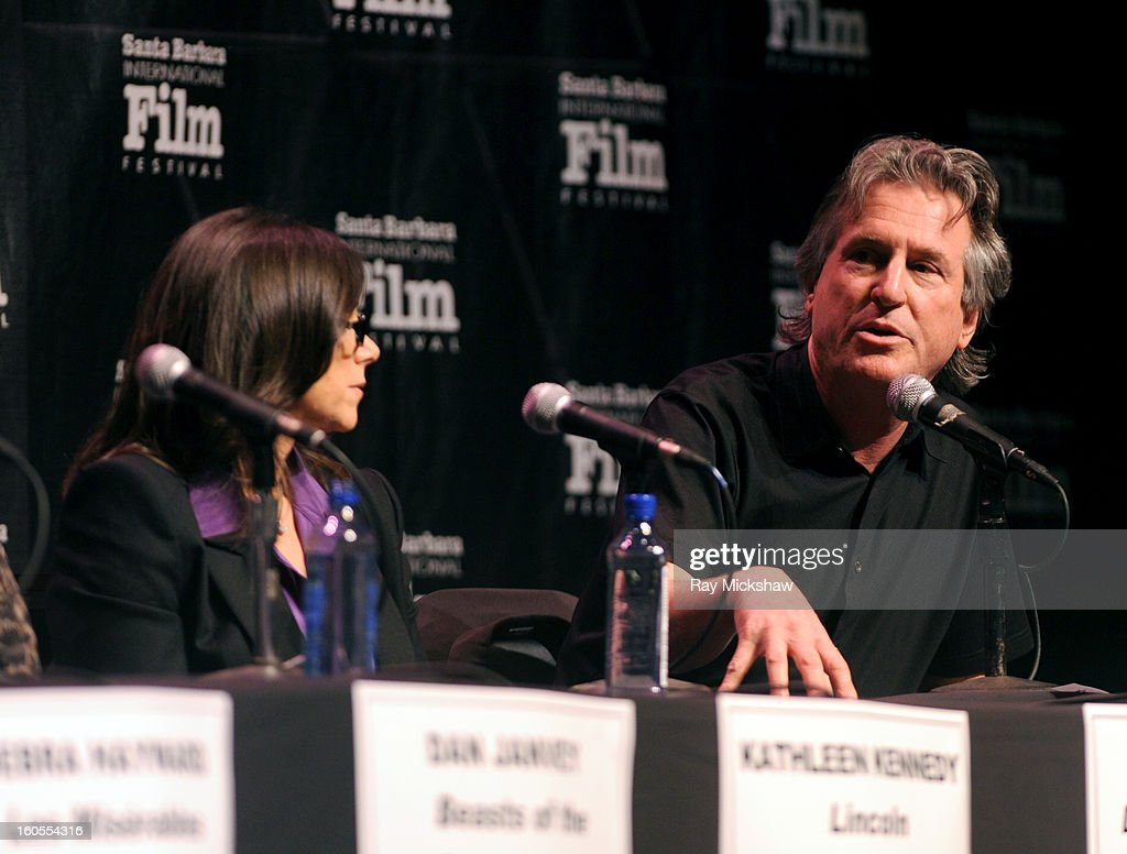Producers <a gi-track='captionPersonalityLinkClicked' href=/galleries/search?phrase=Stacey+Sher&family=editorial&specificpeople=2082596 ng-click='$event.stopPropagation()'>Stacey Sher</a> and David Womak attend the 28th Santa Barbara International Film Festival Producers Panel on February 1, 2013 in Santa Barbara, California.