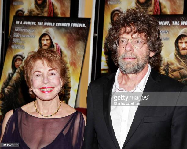 Producers Steve Schwartz and Paula Mae Schwartz attend the premiere of 'The Road' at the Clearview Chelsea Cinemas on November 16 2009 in New York...
