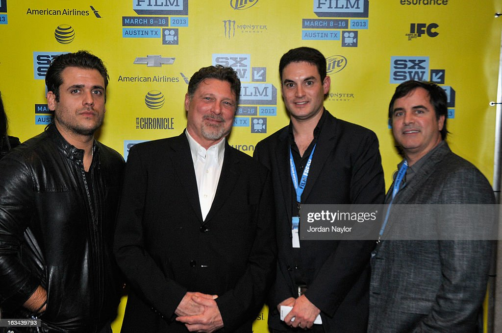 Producers Tim Chonacas, Kevin Stanford, Jason Michael Berman and Tom Fore arrive at the screening of 'Kilimanjaro' during the 2013 SXSW Music, Film + Interactive Festival at Stateside Theater on March 9, 2013 in Austin, Texas.